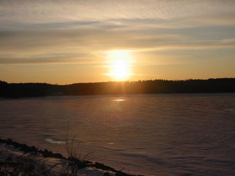 Sunset over Quabbin Lake