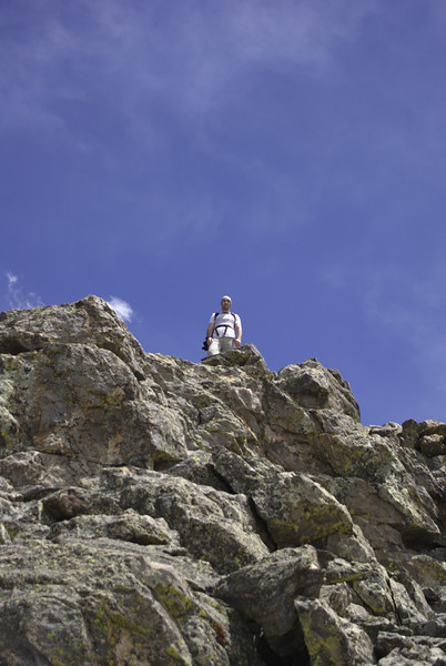 Twin Sisters trail. Dani at the summit.