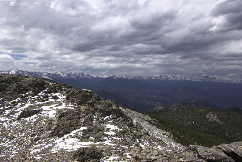 Twin Sisters trail. View from he summit.