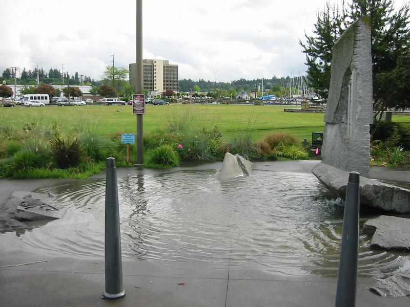 Olympia.  Tidal pool memorial.