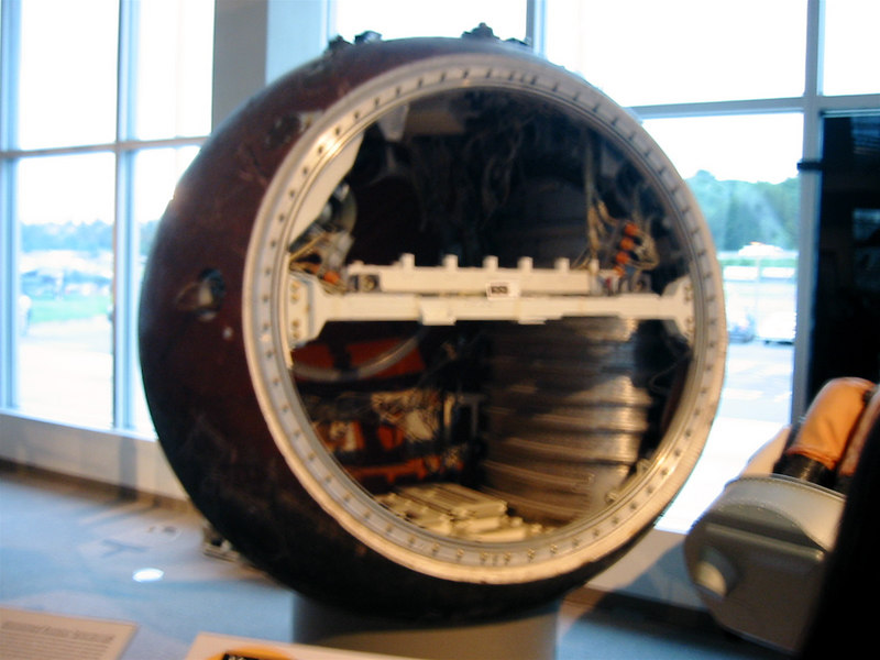 Museum of Flight.  An old Soviet satellite platform.