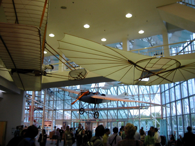 Museum of Flight.  Model of early aircraft.