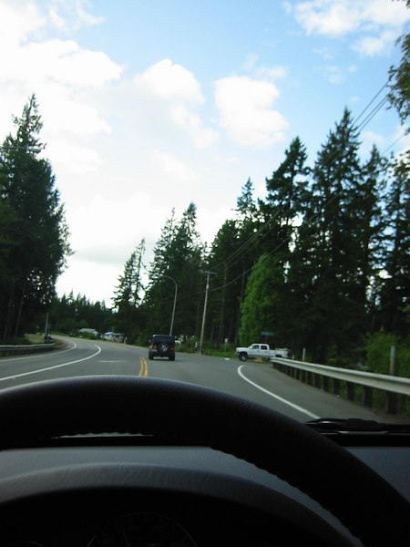 The drive to Olympic Mountains National Park