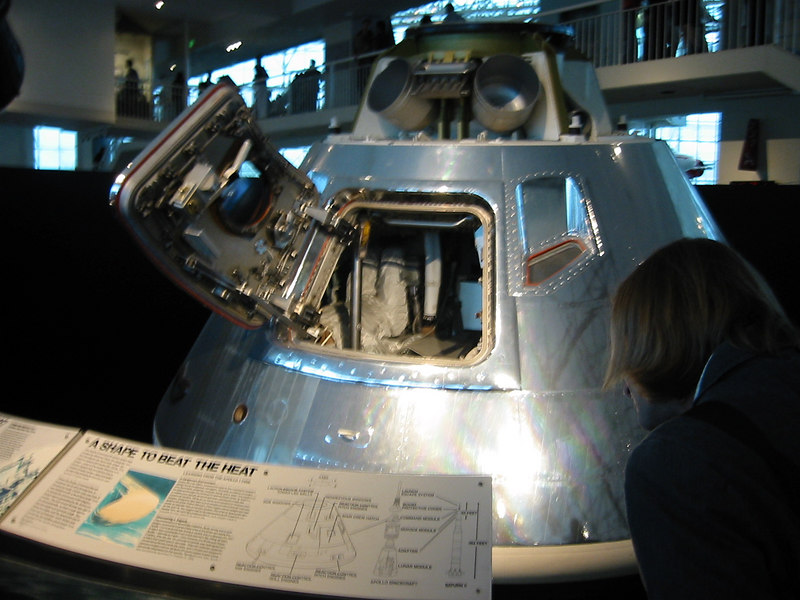 Museum of Flight.  Apollo capsule.