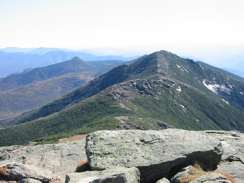 From Mount Lafayette. View toward Mount Lincoln and Haystack