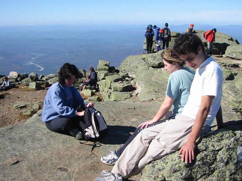 Resting on Mount Lafayette