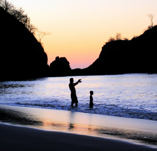 Man and boy in Costa Rica