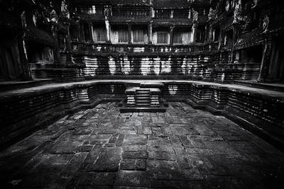 Angkor Stairs BW Dark