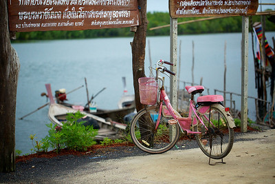 Pink Bike in Thailand