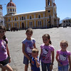 Cathedral in the background, hot and tired children in the foreground. :o)