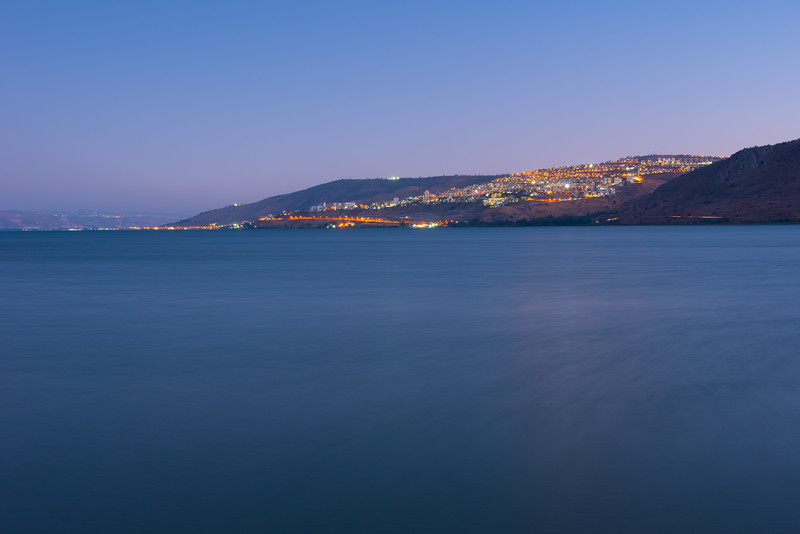 Tiberias at night from Nof Ginosaur pier