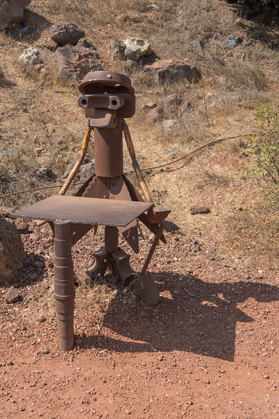 Metal sculptures, Mount Bental, Golan Heights