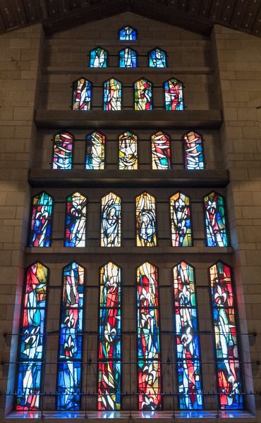 Stained glass, Catholic Church of the Annunciation, Nazareth