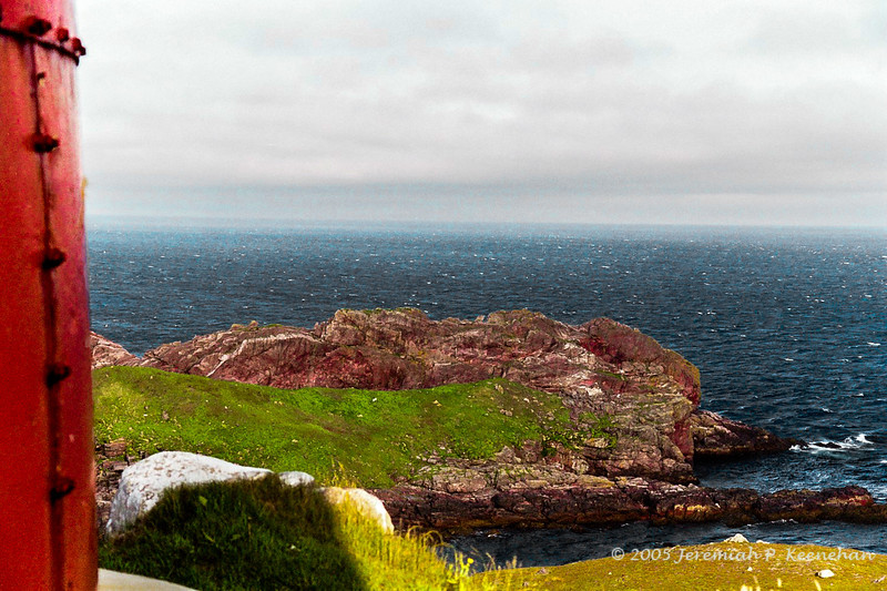 Looking Down on the Sea from the Lighthouse at Ferryland Head in Newfoundland