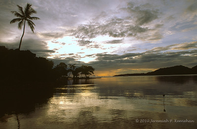 Golden Sunset on Truk Lagoon, Micronesia 2010