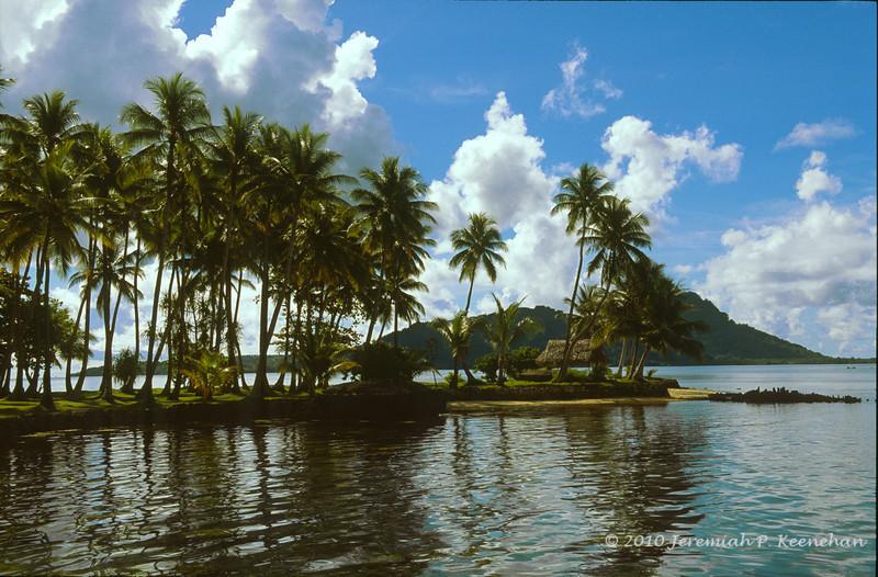 Truk Lagoon, Tonoas Island, WWII Japanese Headquarters in the Distance