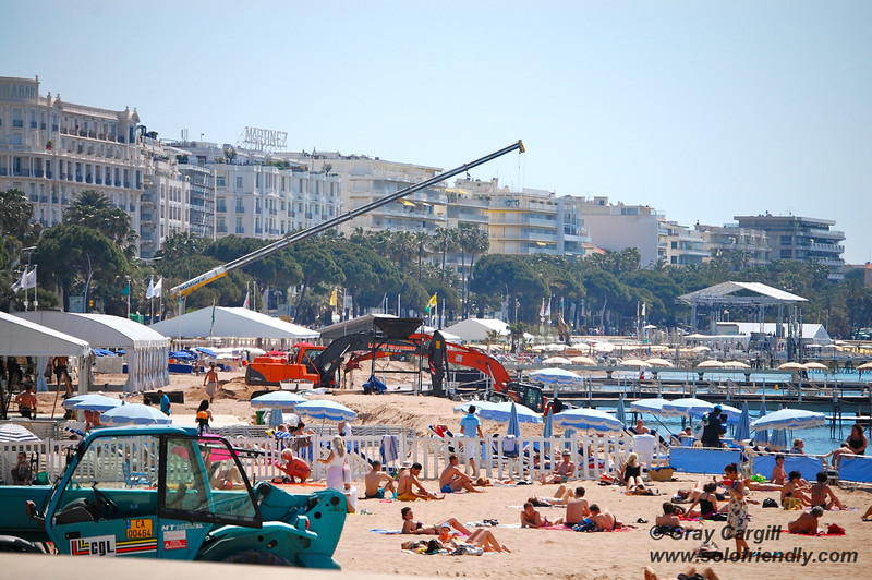 Festival Construction on the beach