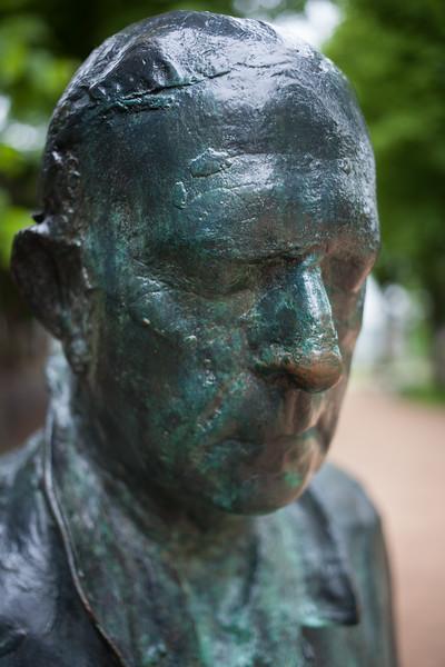 George Segal's Walking Man