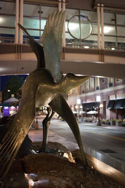 Sculpture on Nicolett Mall