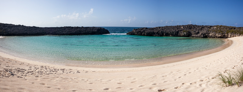 Beach with Natural Swiming Pool near Compass Rose