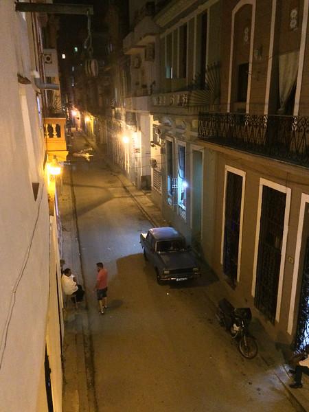 Street near dinner restaurant.