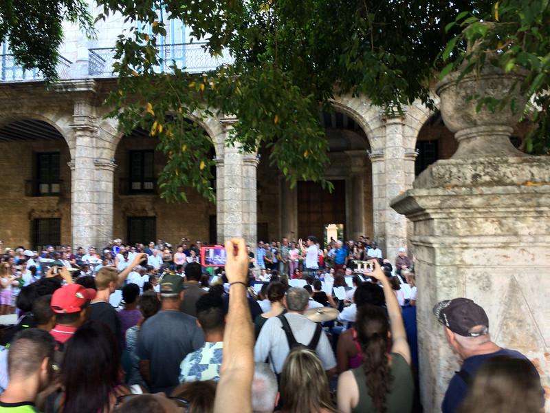 Open Air concert in Old Havana