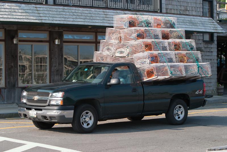 Truck full of lobster traps