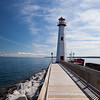 St. Ignace Light and boardwalk