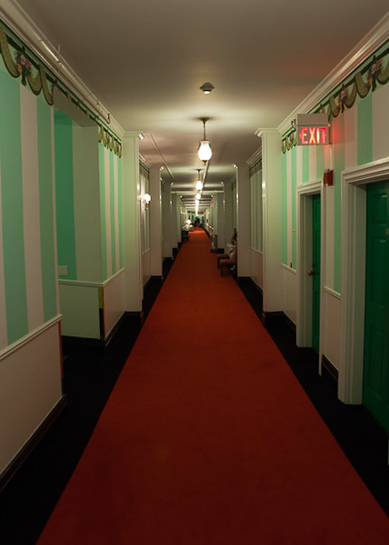Redrum Redrum (Looking up the hallway outside our room)