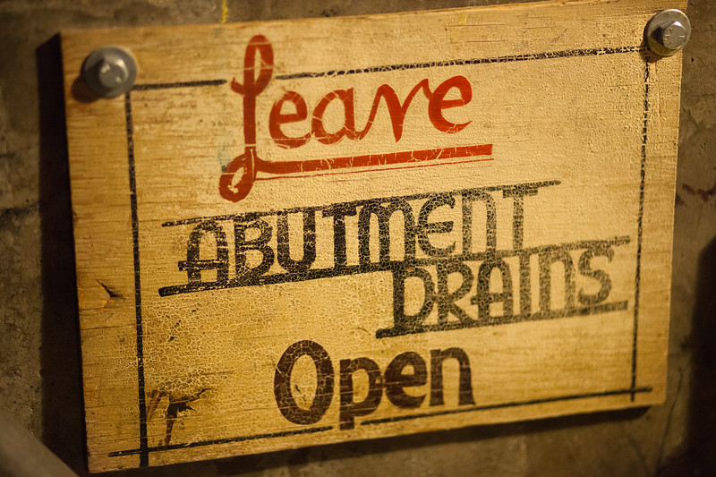 Leave Abutment Drains Open