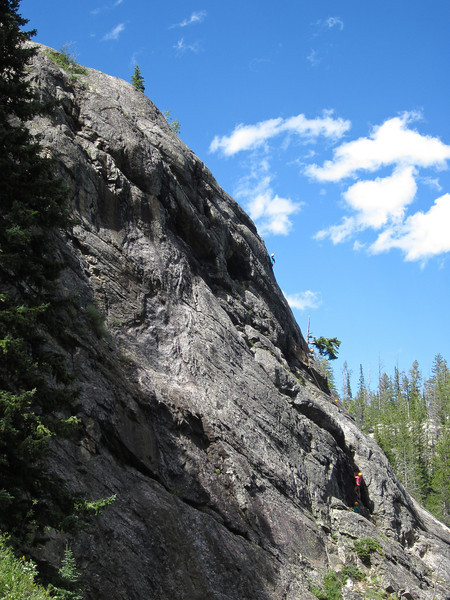 Other parties practiced their climbing skills on nearby faces.