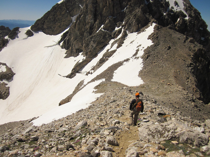 The climb down was long, but just before noon we approached the Lower Saddle again.