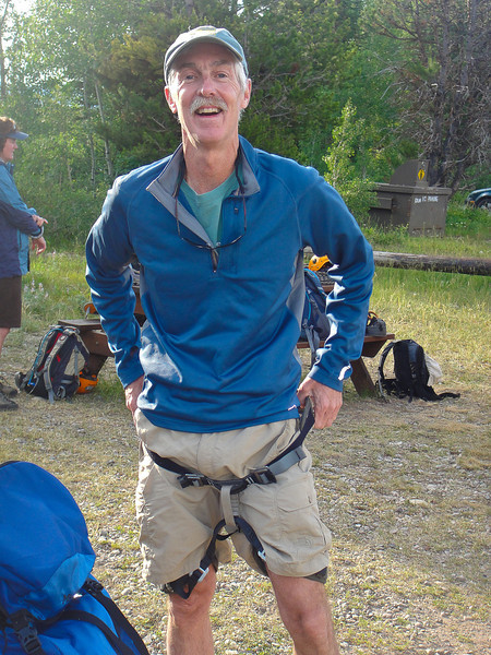 We all made final adjustments to our climbing harnesses. (Photo: Randy Fernley)