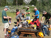 No more practice -- the day had arrived. We gathered at Exum and packed our gear. Because of the still heavy snow pack on the middle part of the mountain. . .  (Photo: Randy Fernley)
