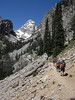 The trees thinned out as we approached Garnet Canyon with the Middle Teton in the distance.