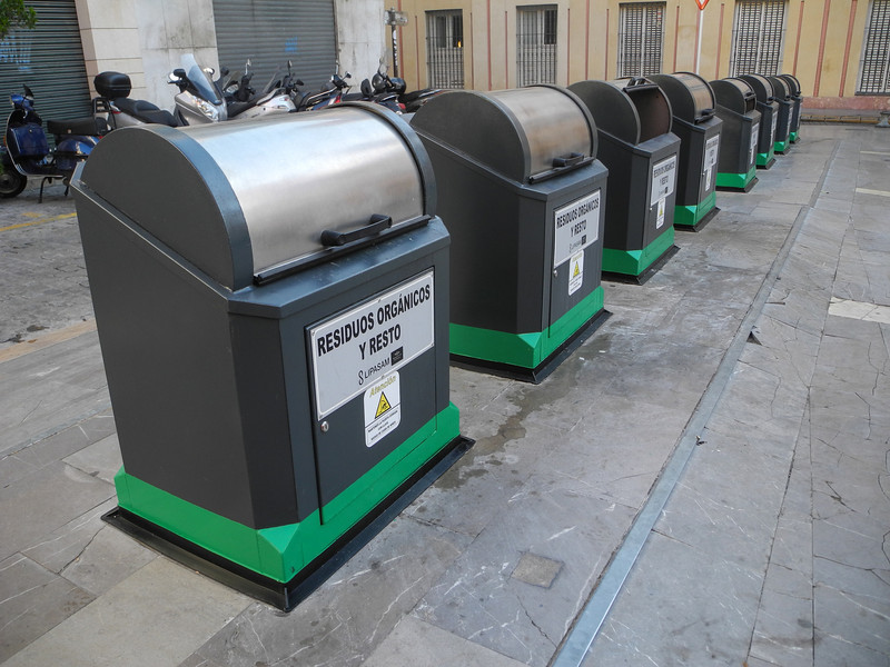 Like all of the cities we visited, Sevilla was very clean, with recycling containers in many locations.