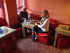 We ate at a tiny Moroccan restaurant -- yum!