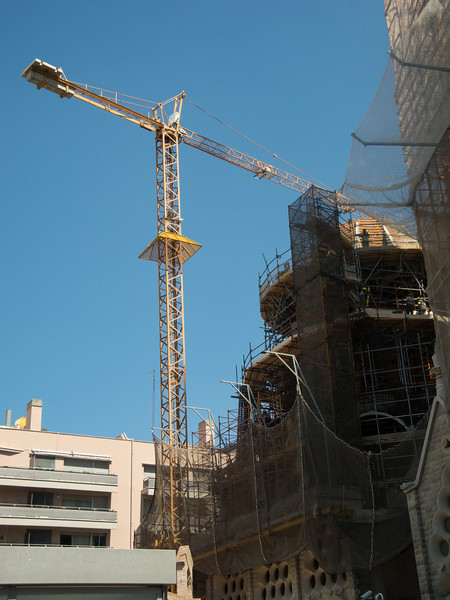 Construction goes on and is expected to be complete in 2026, the centenary of Gaudi's death.