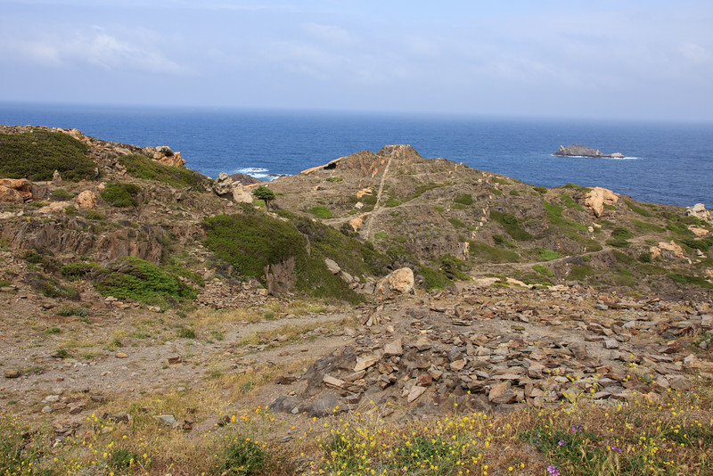 We drove up the coast a short way to Cap de Creus, a rocky headland that is the eastern most point of the Spanish mainland.