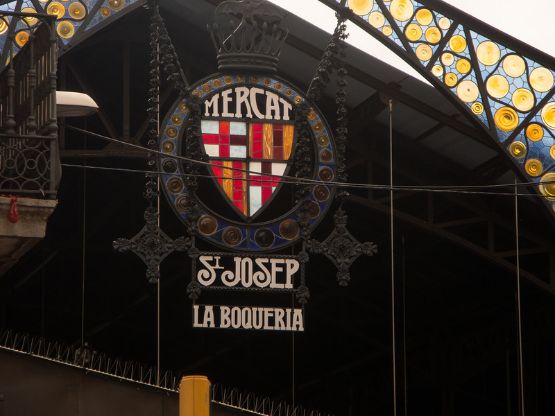 On our last day we visited the Boqueria market . . .