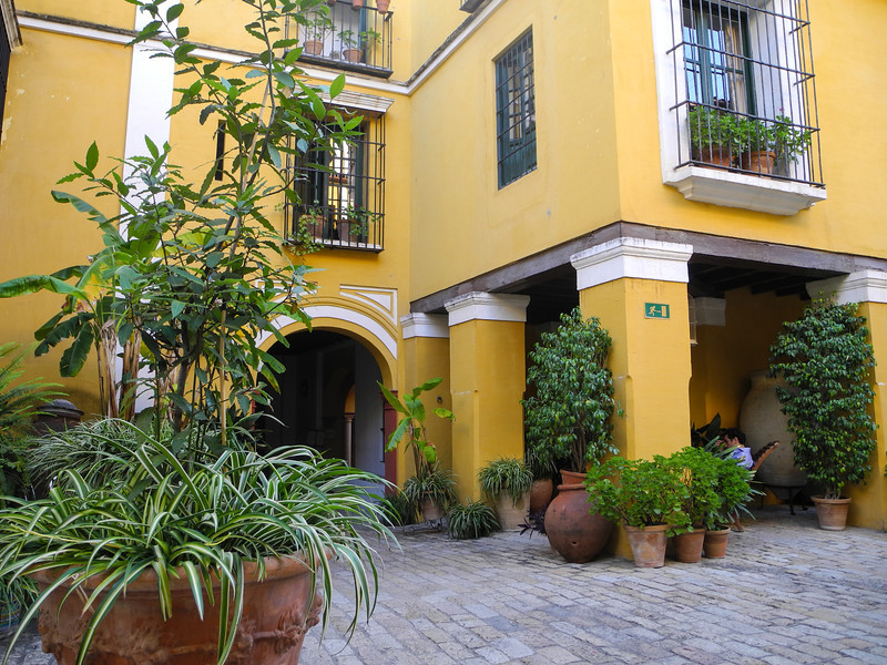 In Sevilla we stayed in a wonderful old style hotel with courtyards and sitting areas.