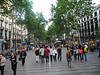 and down La Rambla, the pedestrian way through the heart of the old city.