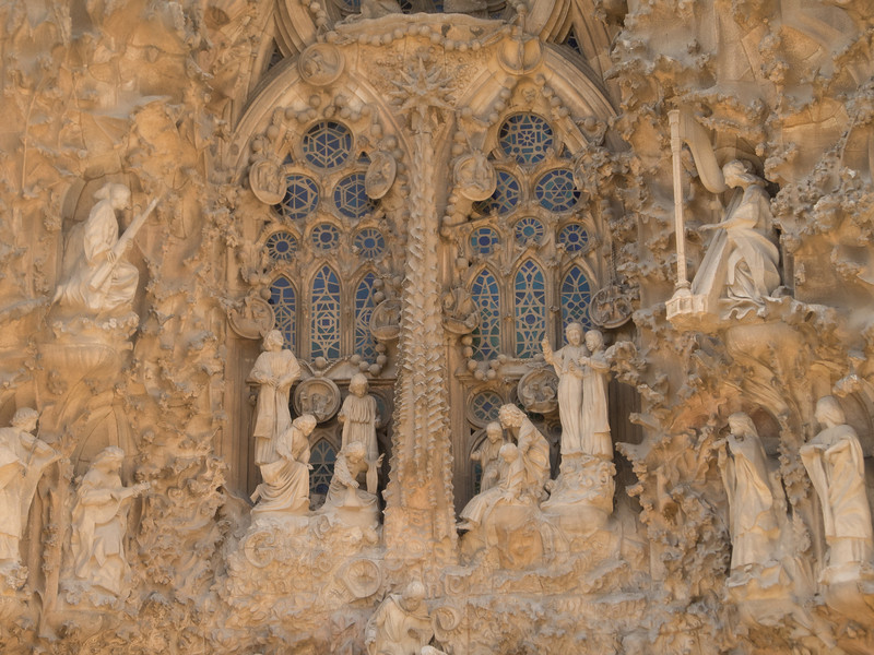The outside of the building is similarly fantastic, with several very different facades -- the Nativity façade is dedicated to the birth of Jesus.