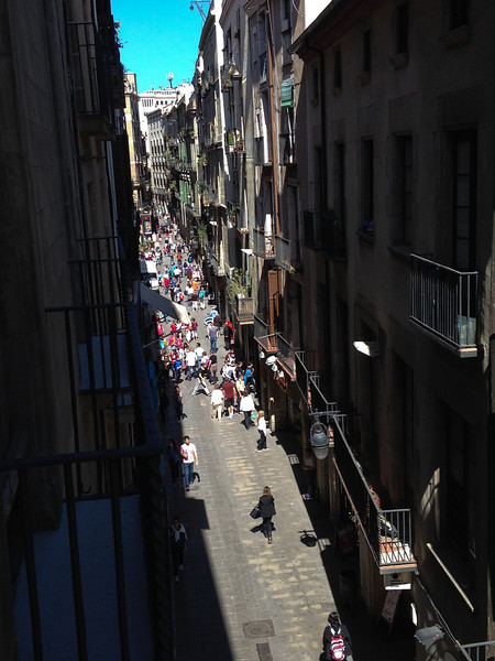 We started our trip in Barcelona on the Calle de Portaferissa, the busy street in Barri Gotic (the Gothic Quarter) where Hannah lives.