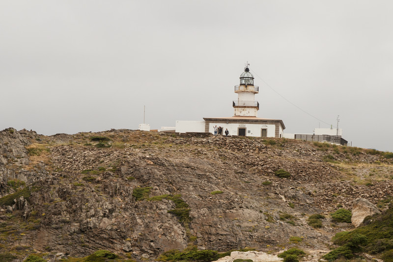 After we walked around the lighthouse, August and Lou went for a hike  . . .
