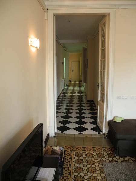 Back in our apartment in Barcelona, with tiled floors everywhere!