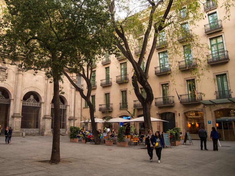 That night we eat dinner at Rita Blue, in Plaça de Sant Agustí!