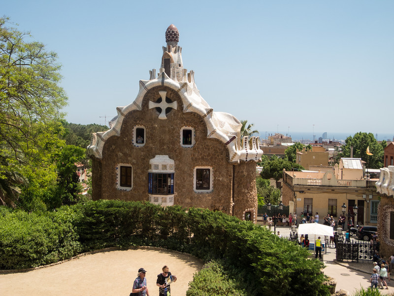 The park was originally part of a housing site in the early 1900s.  Gaudi built a home there, which is now the Gaudi Muesum, but then the entire site was acquired by the city as a park.