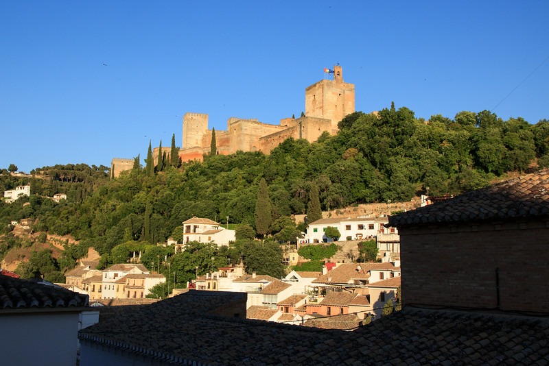 Our destination: Granada, a small city at the foot of the Sierra Nevada mountains, where we had a spectacular view of the Alhambra, a Moorish citadel and palace, from our penthouse apartment.