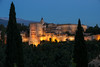 . . . at a restaurant overlooking the Alhambra.